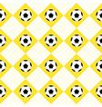 Football Ball Yellow White Chess Board Diamond vector image vector image