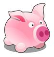 funny pig toy isolated on white background vector image vector image
