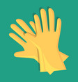 gardening gloves isolated icon vector image