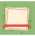Green background with white frame vector image vector image