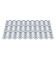 grey corrugated tile classic ceramic tiles vector image