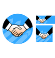 hand shake conception vector image vector image