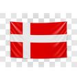 hanging flag denmark kingdom denmark vector image vector image