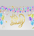 happy birth day background happy day typography vector image