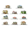 image a private house flat vector image vector image