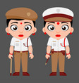 indian lady traffic police government employees vector image vector image