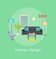 interior design abstract room interior poster vector image vector image