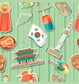 korea seamless pattern korean traditional sticker vector image vector image
