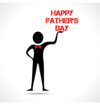 Man holding happy fathers day text vector image vector image