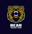 modern bear mascot logo vector image vector image
