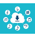 music cloud vector image vector image