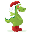 new year dragon - santa claus vector image vector image