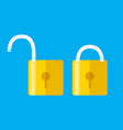 opened and closed locks flat style concept of vector image