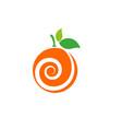 orange design icon vector image