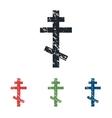 Orthodox cross grunge icon set vector image vector image
