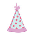 party hat with points decoration style vector image