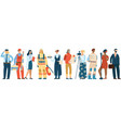 people occupation professional man and vector image vector image