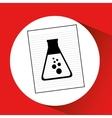 research chemical flask laboratory drawing icon vector image vector image