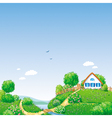Rural landscape vector | Price: 3 Credits (USD $3)