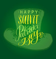 saint patricks day hand lettering greetings vector image vector image