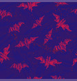 seamless bat pattern for halloween holidays vector image vector image
