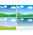 seasons landscape vector image vector image