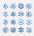 separate snowflakes doodles rustic vector image vector image