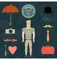 Set hipster vector image vector image