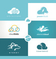 set of cloud logo vector image