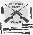 Set of retro weapons labels emblems and design vector image