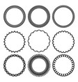 set of round twisted frame 3 vector image