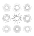 Set of Vintage Linear Sunbursts vector image