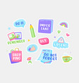 set stickers do not forget important urgent vector image vector image