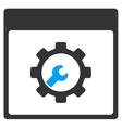 Setup Tools Calendar Page Toolbar Icon vector image vector image