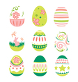 Simple Style Easter Eggs for Happy Easter vector image vector image