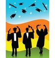 spring graduates vector image vector image