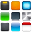 Square modern app template icons vector | Price: 1 Credit (USD $1)