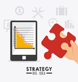 Strategy business design vector image vector image