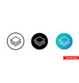 stratis icon 3 types color black and white vector image vector image