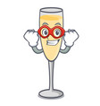 super hero champagne character cartoon style vector image