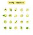template hemp icon vector image vector image