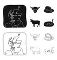territory on the map bull head cow eggs vector image