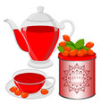 the tea vector image vector image