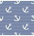 Tile sailor pattern with white anchor on navy blue vector image vector image