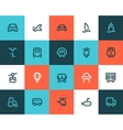 Transportation icons Flat style vector image vector image