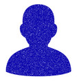 user icon grunge watermark vector image vector image