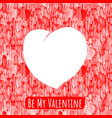 valentine heart template vector image vector image