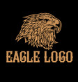 vintage eagle head logo america logo mascot vector image vector image