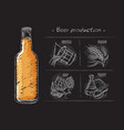 vintage hand drawn brewers vector image vector image