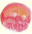 watercolor paint floral design vector image vector image